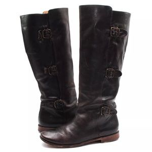 FRYE Paige Tall Buckle Knee Boots